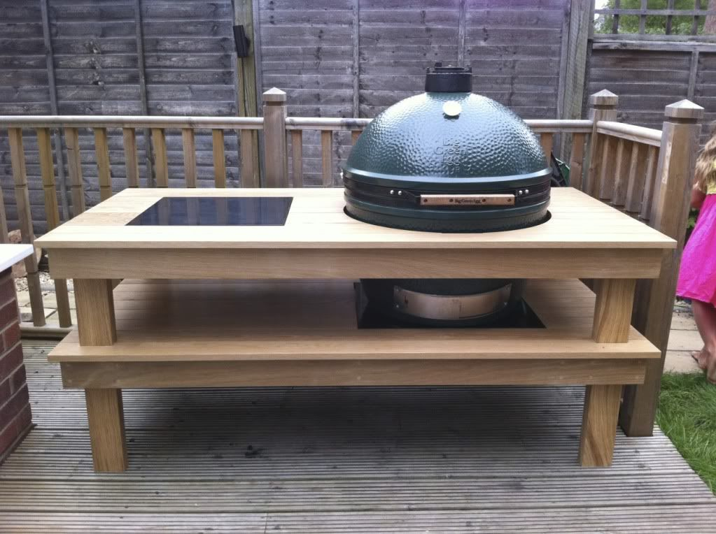Xl Big Green Egg Table Plans Table Plans PDF Download Big Green - Outdoor grill table plans