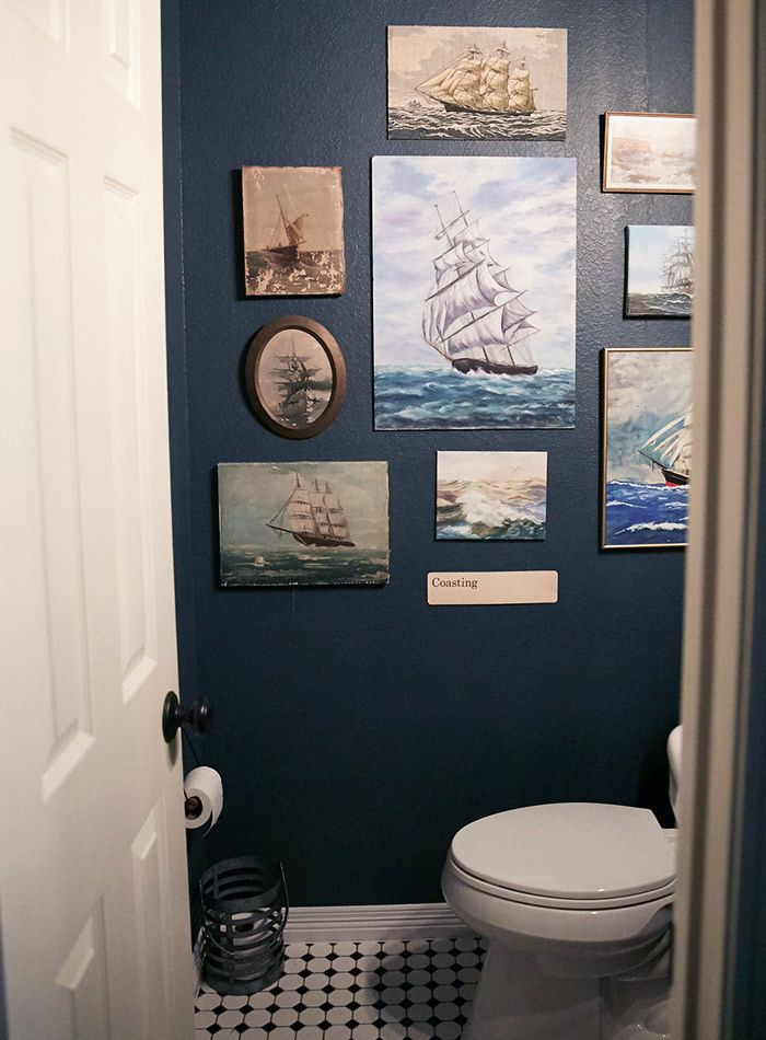 I like all those wacky ship paintings. New Construction with Curated Charm in Texas | Design*Sponge