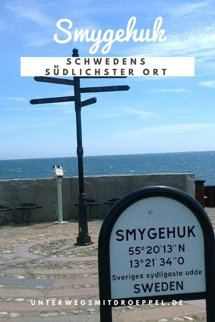 Smygehuk, der südlichste Ort Schwedens war ein Ziel bei unserem Roadtrip mit dem Bulli durch Schweden. Direkt an der Ostsee.