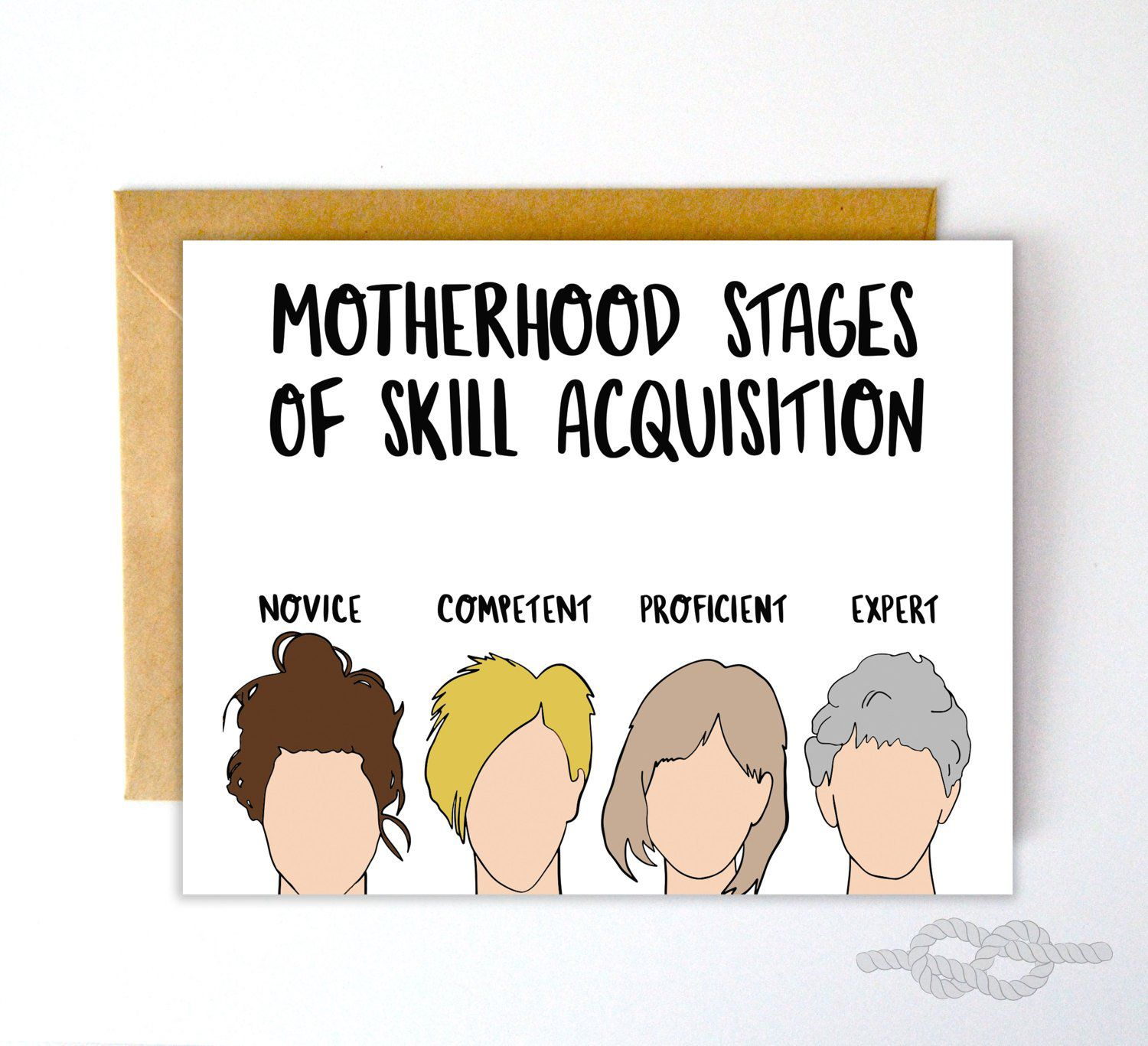 Motherhood Stages Of Skill Acquisition Card Local Notables Gift Shop Birthday Quotes For Daughter Funny Quotes For Teens Funny Mom Quotes
