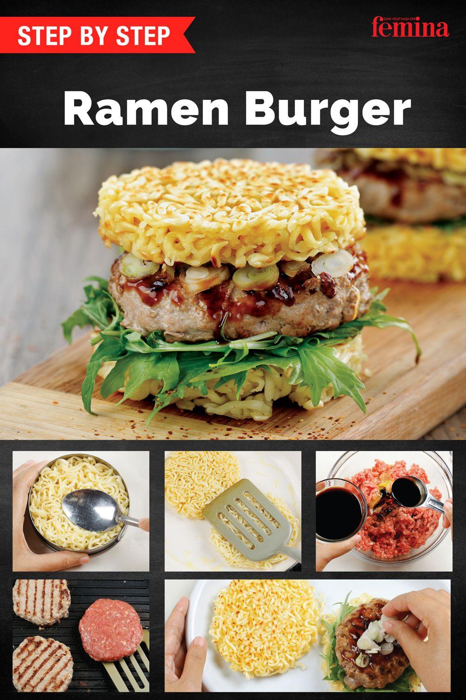 Cara Membuat Ramen Burger Daging Sapi Cincang Resep Daging Sapi Daging Sapi