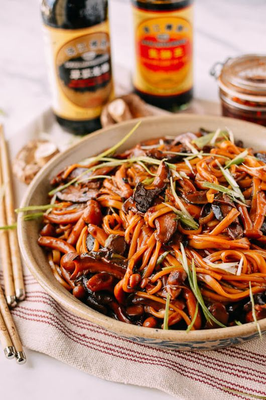 Soy Sauce Braised Wild Mushroom Noodles These - Recipe