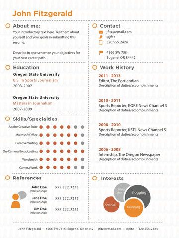The Dots - resume template Infographics Pinterest Template and - photo editor job description