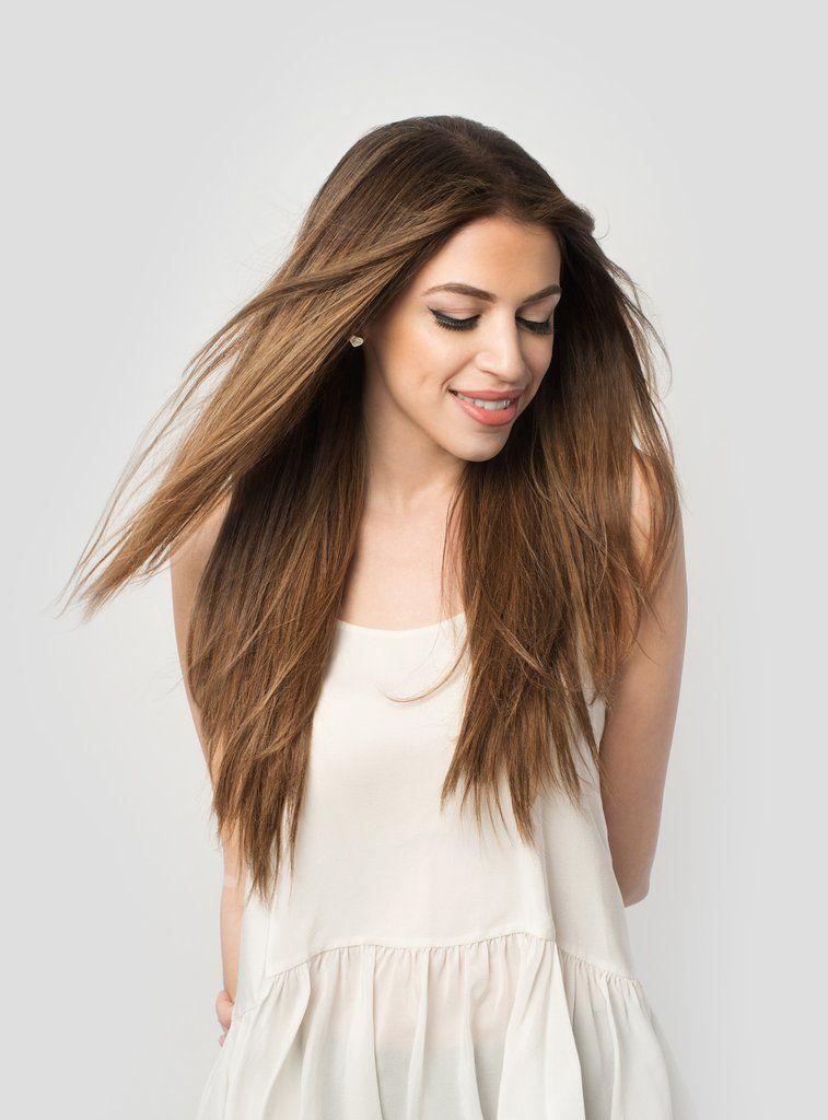 Chestnut Brown 6 20 220g Shop Luxy Hair Extensions
