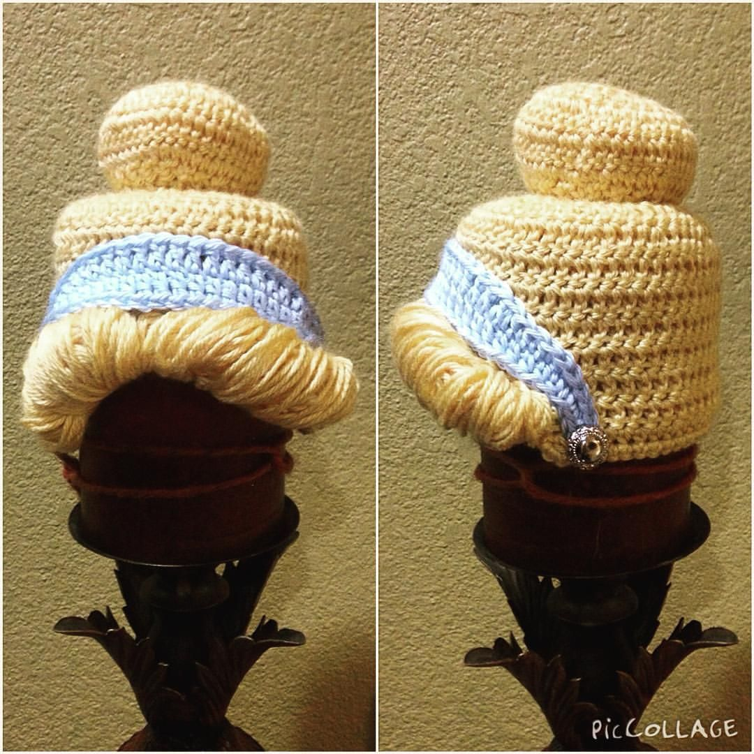 1b8534bf090 Cinderella princess crochet beanie hat made by sophia g.