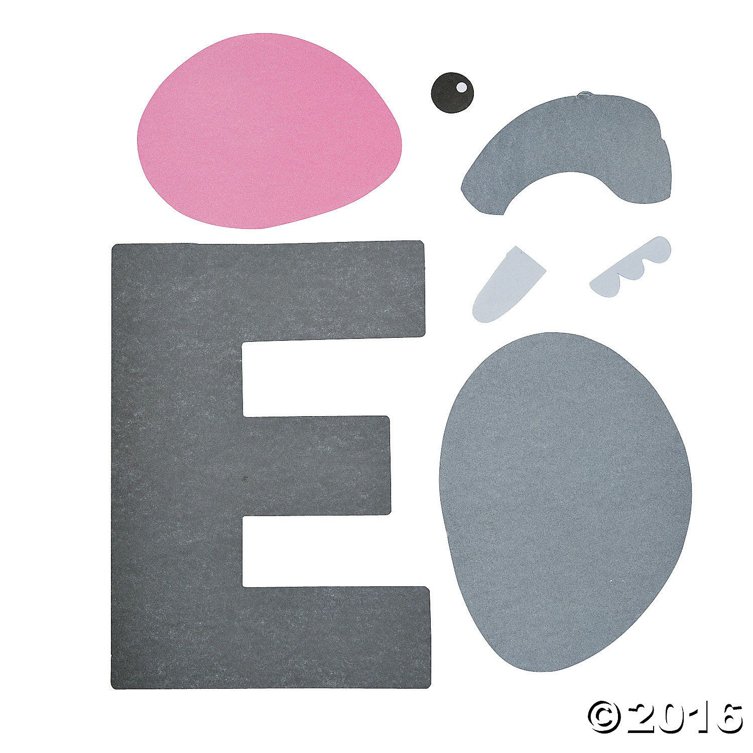 E Is For Elephant Letter E Craft Kit 48 A01