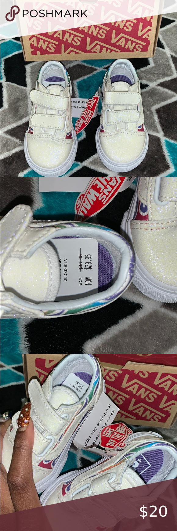 Vans 🌈 sparkle 🔥 Size 4.5 baby girl