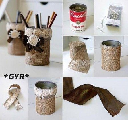 ideas de manualidades con latas de conserva