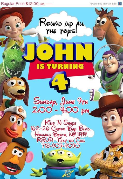 TOY STORY Invitation Toy Story Invite Toy Story Party Woody
