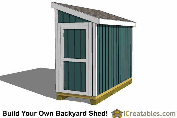 4x10 Lean To Shed Plans End Door Yard Pinterest Shed Plans