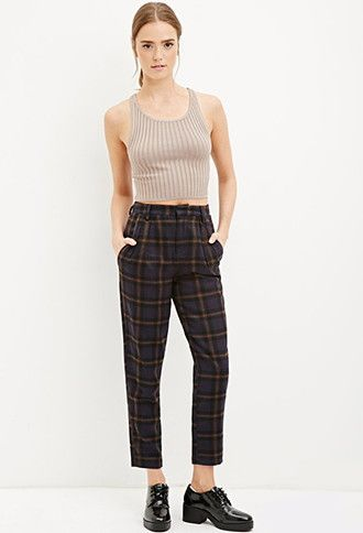 19cc54adb Tartan Plaid Trousers | Forever 21 | #thelatest | forever 21| the ...