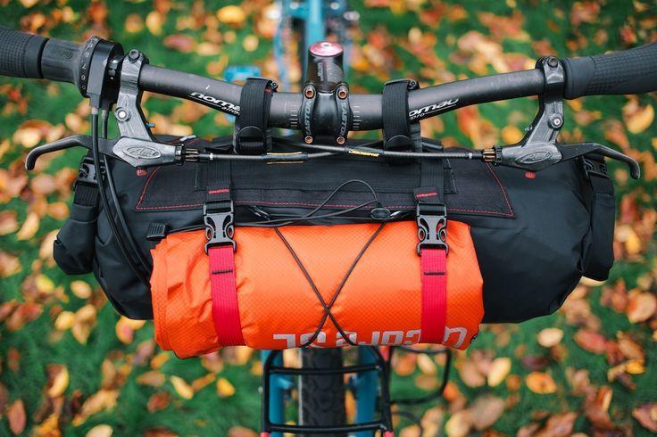 Bikepacking Gear Revelate Handlebar Bag Sweet Roll Bikepacking Bags Bikepacking Gear Handlebar Bag