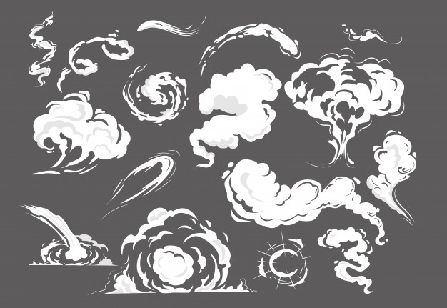 Download Comic Smoke Puffs Set For Free Smoke Drawing Smoke Vector Smoke Art