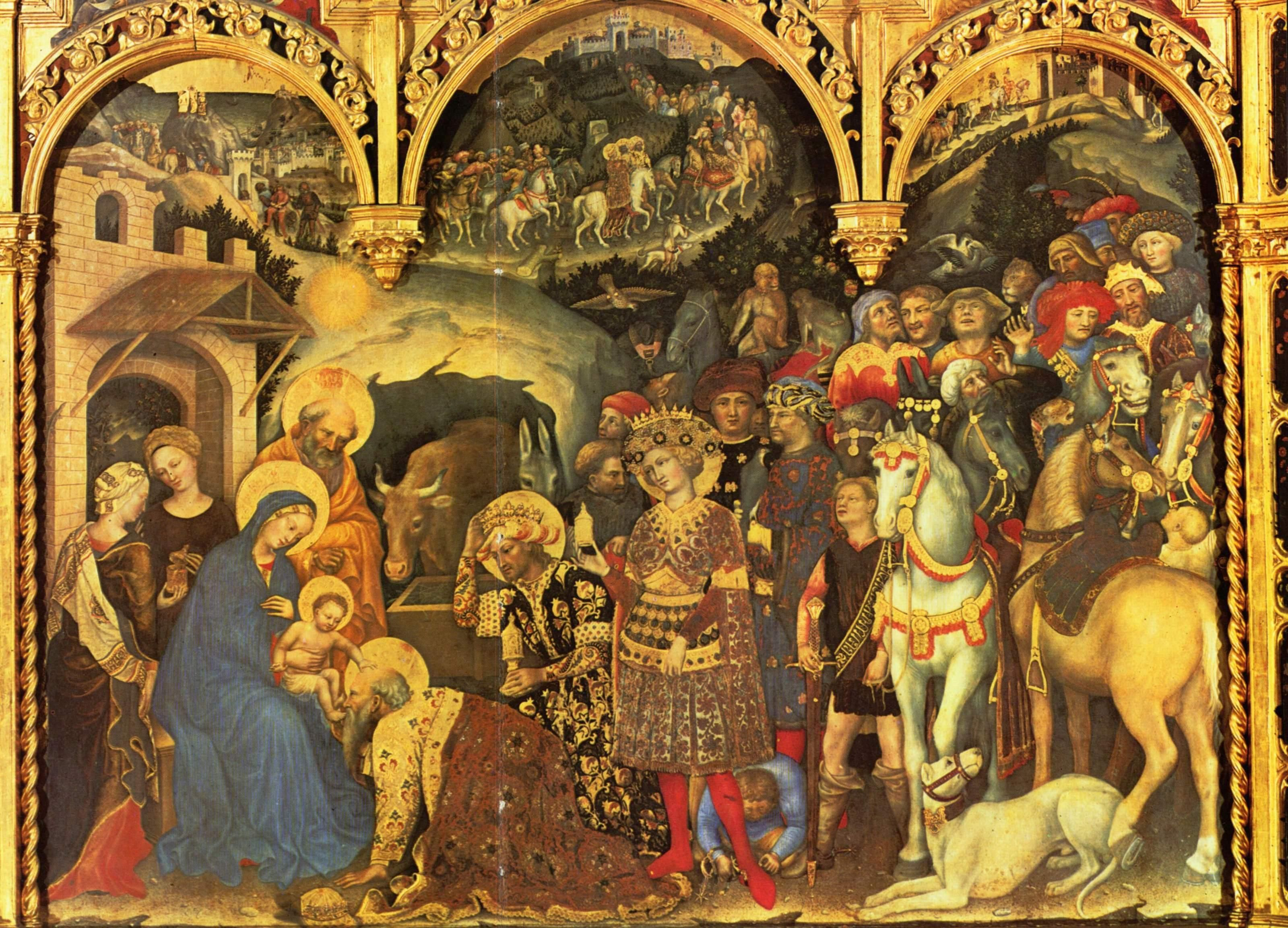 20Adoration Of The MagiGentile Da Fabriano1423Tempera On Panel Religious ArtGothic