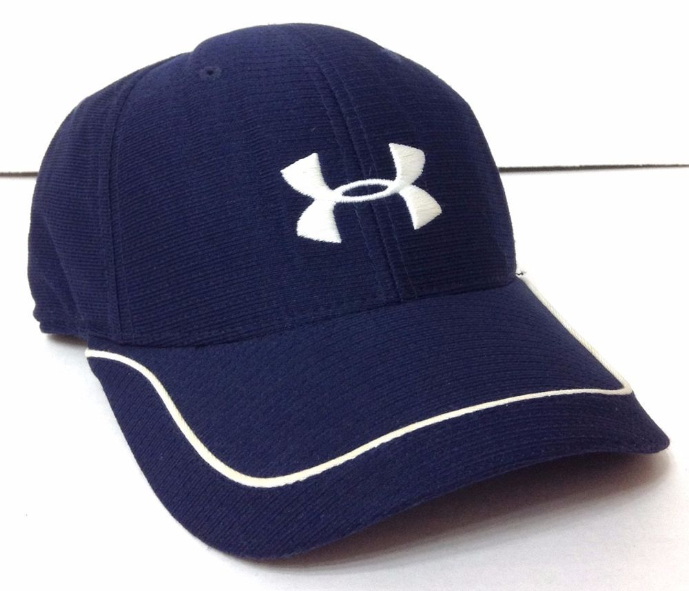 006bc364c30 UNDER ARMOUR HAT Navy-Blue POLYESTER DRY FIT Athletic Golf Running Tennis  MENS L  UnderArmour  BaseballCap