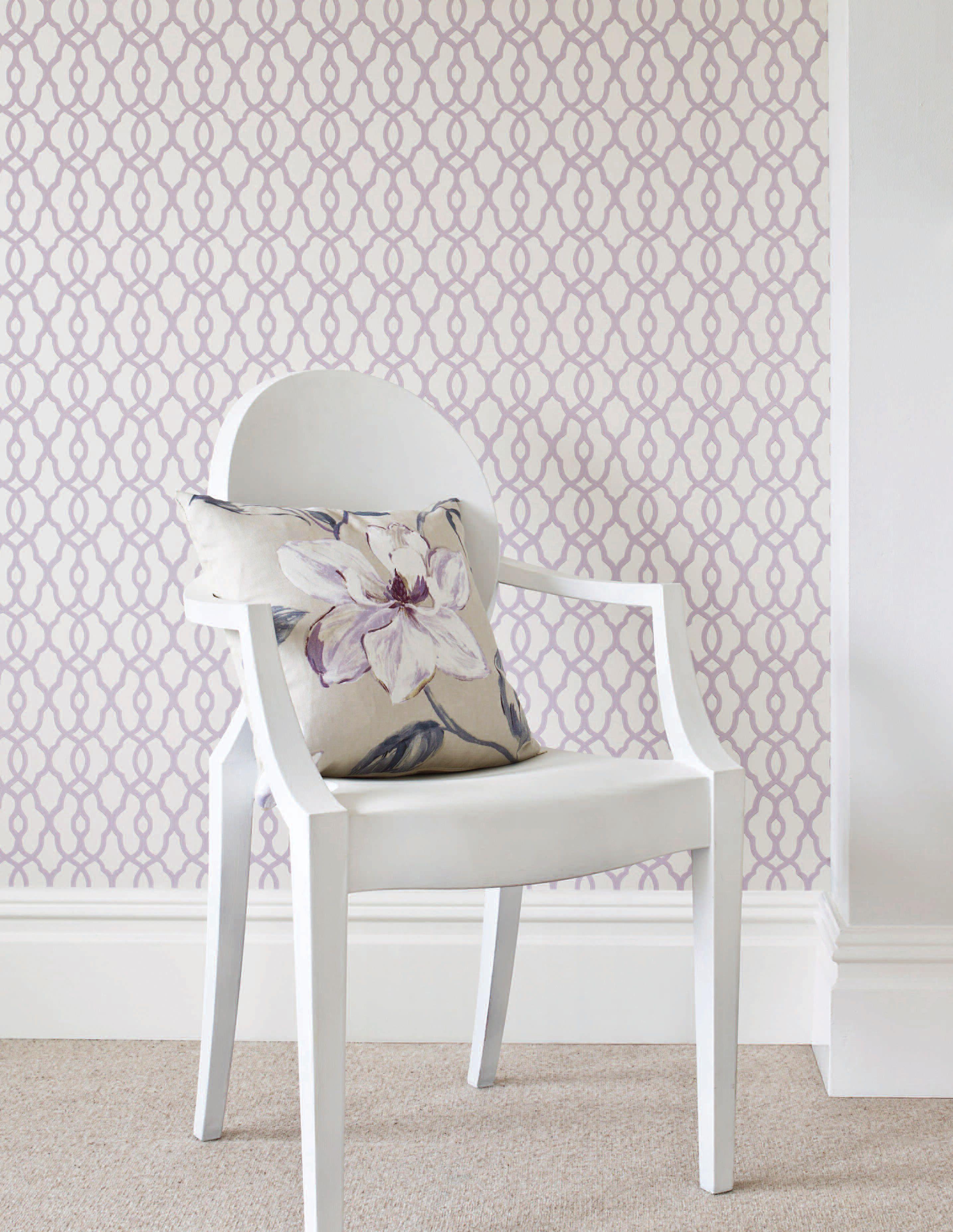 Purple Wallpaper Wall coverings, Purple toddler room