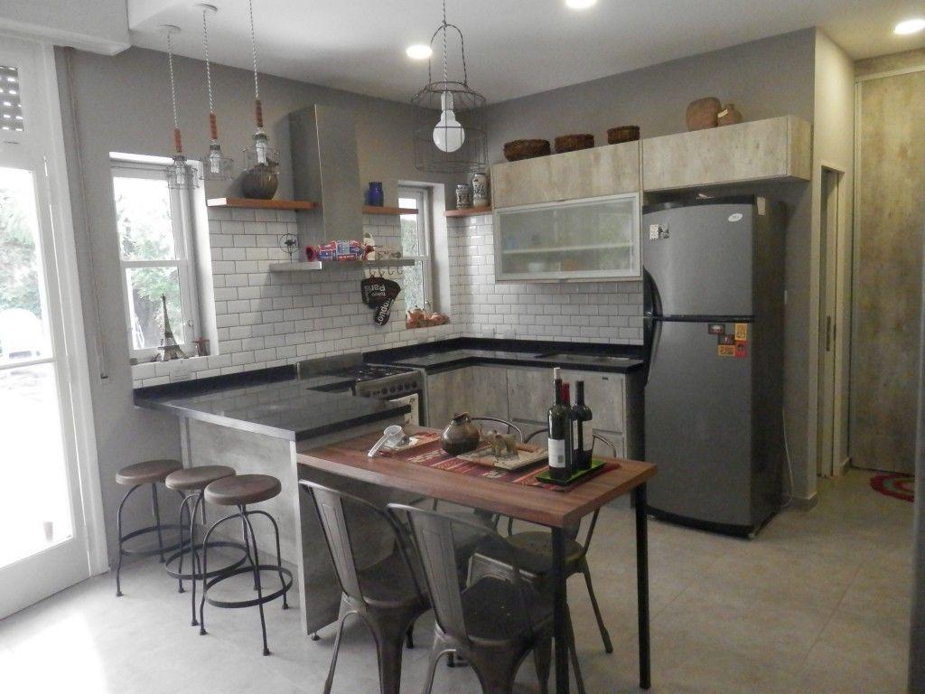 Cocina estilo industrial realizada junto al arquitecto for Cocinas pequenas industriales