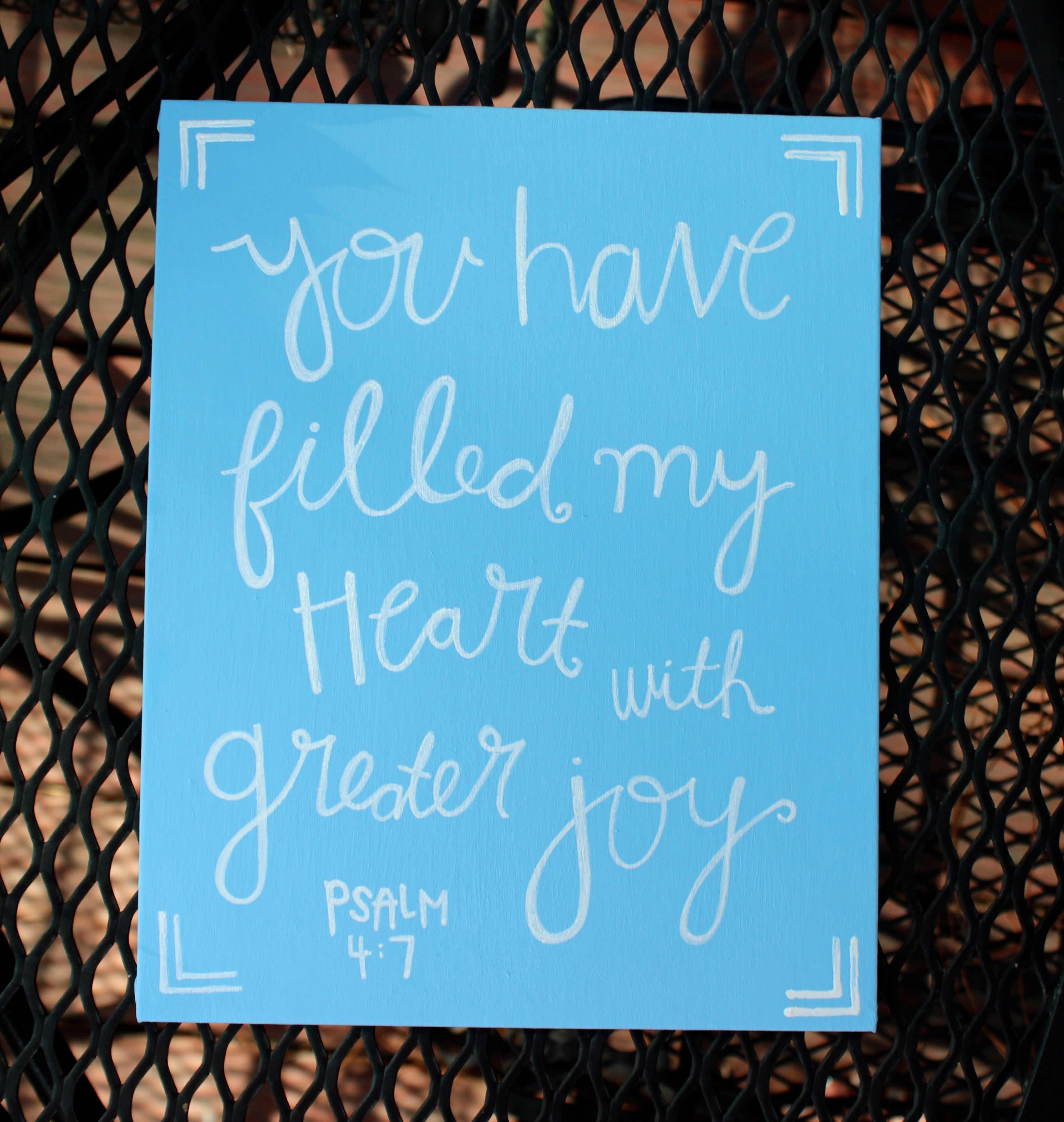 Reputable You Have Filled My Heart Er Joy Psalm Canvas Quote Bibleverse Bible Verse Canvas X Canvas Home Decor Baby Blue Psalm You Have Filled My Heart Er Joy Canvas Panel