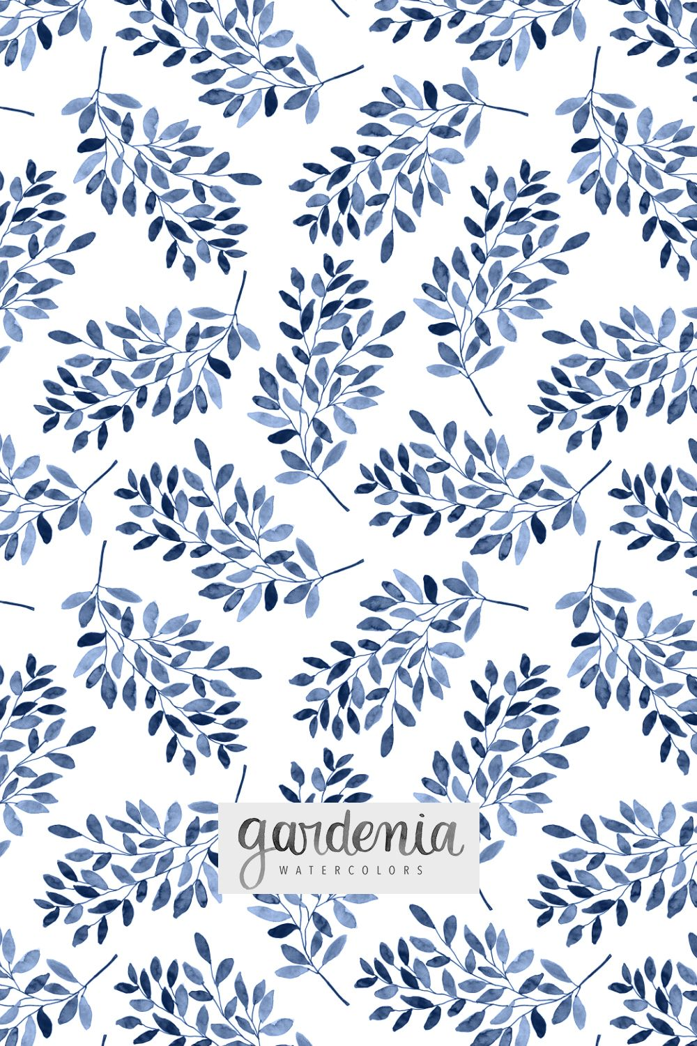 Repeating Pattern Hand Painted With Watercolors Digitized Art