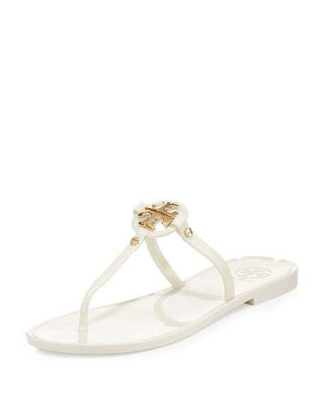 Tory BurchMINI MILLER FLAT THONG - T-bar sandals - ivory UFJ42I1v