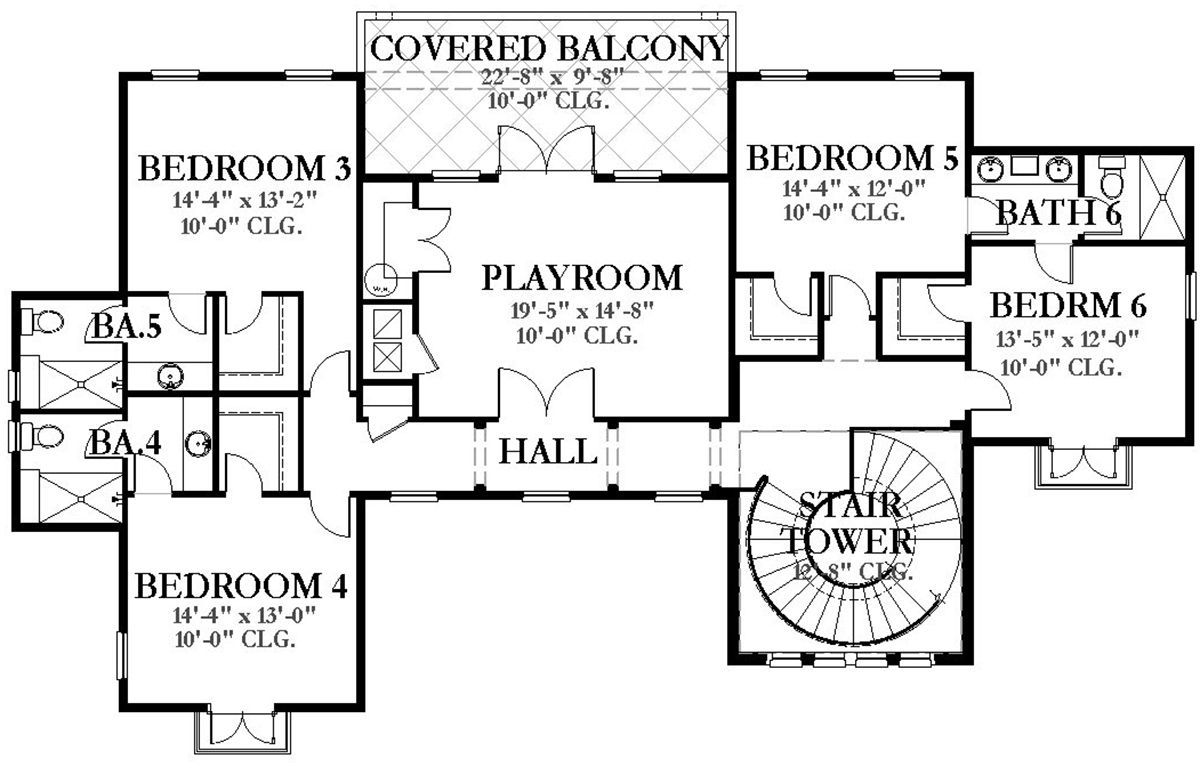 House Plan 3978 00064 Luxury Plan 7 174 Square Feet 8 Bedrooms 6 5 Bathrooms Luxury Plan Mansion Floor Plan House Plans