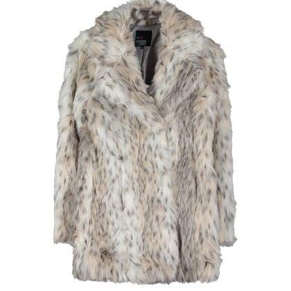 Mantel mit Animalprint - Ausgefallener beiger Mantel von Even&Odd ...