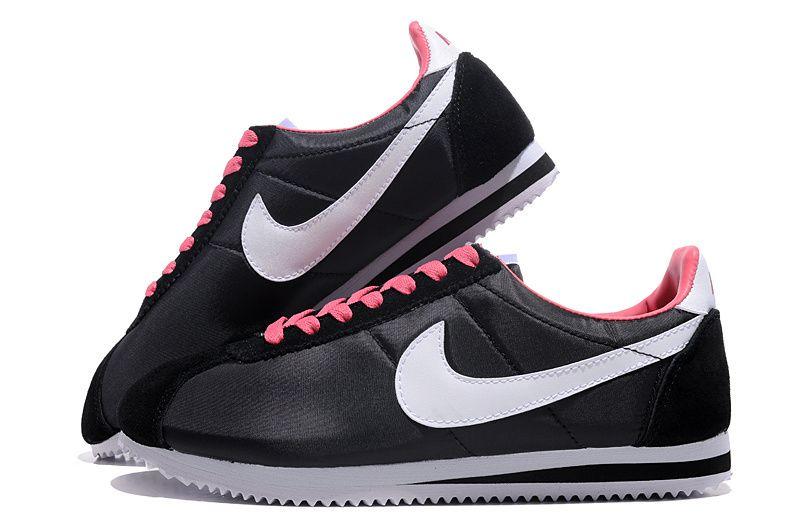 buy online 5dca9 75198 Meilleur Authentique Nike Cortez Oxford Cloth Noir Blanc Rose Homme