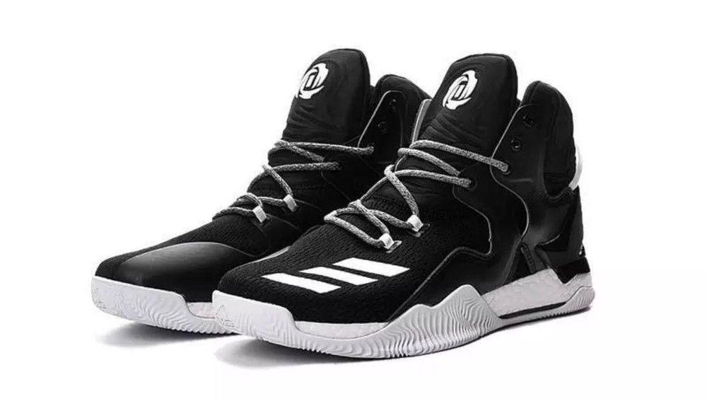 4a88406a360 Adidas Performance Men s D Rose 7 Boost Basketball Shoes NBA Black White  Size 19  Adidas  BasketballShoes