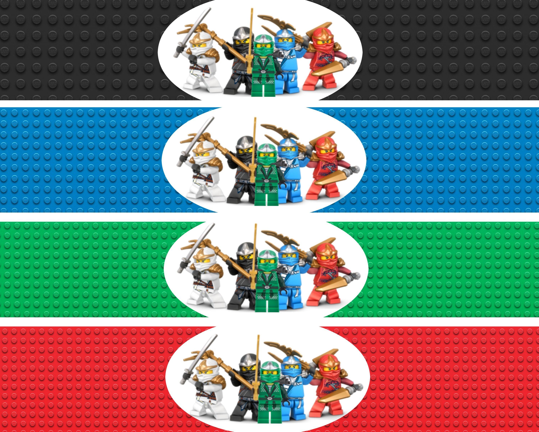 Ninjago Water Bottle Labels Lego Ninja Printables