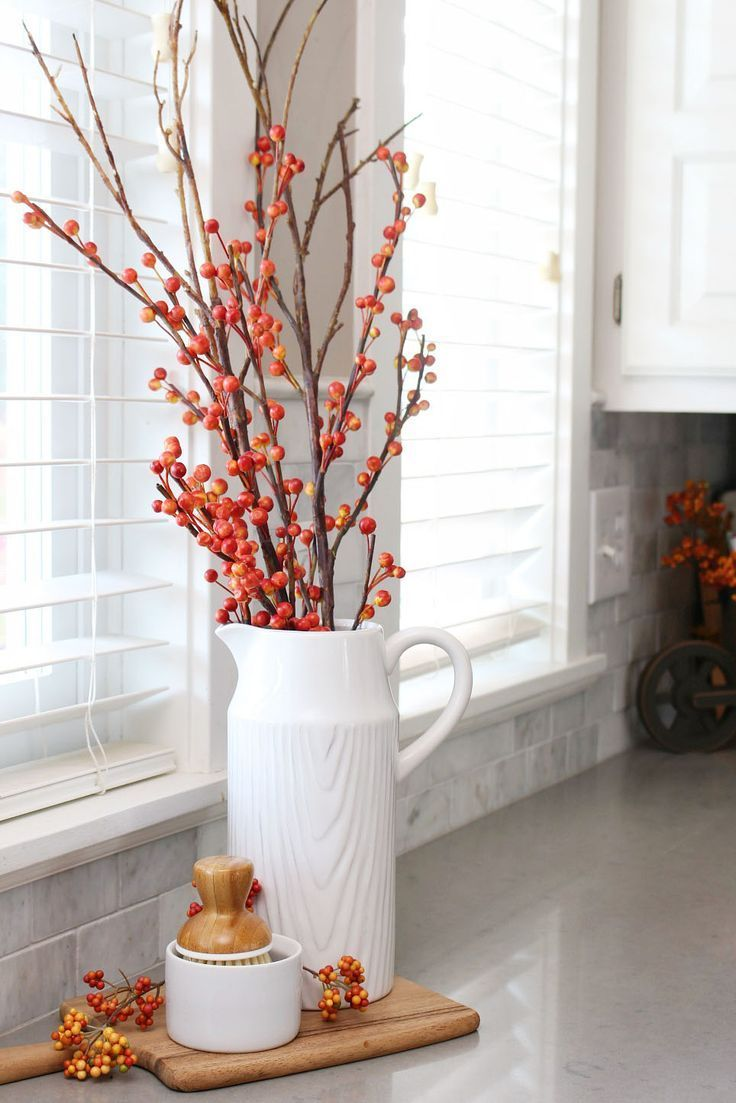 Cute fall decor ideas for the kitchen and dining room. | Home Decor ...