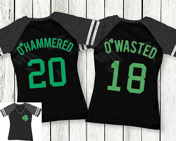 98c386e1 O'Wasted St. Patrick's Day Drinking Team Shirt Black - 3 Names to Pick, St.  Patty's Day Shirt, St. P