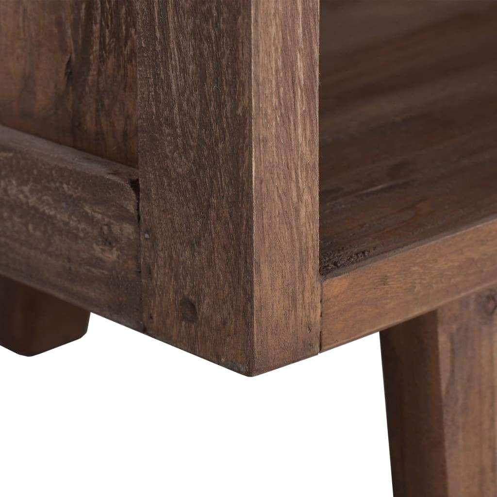 ZNTS TV Cabinet 39.4″x11.8″x15.7″ Solid Teak Wood 288295