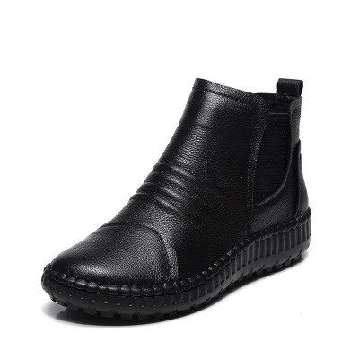 Genuine Leather Shoes Women Boots 2019 Autumn Winter Fashion Handmade Ankle Boots Warm Soft Outdoor Casual Flat Shoes Woman -  Genuine Leather Shoes Women Boots 2019 Autumn Winter Fashion Handmade Ankle Boots Warm Soft Outdoor Casual Flat Shoes Woman Outfit Accessories From Touchy Style.   Free International Shipping.  - #Ankle #Autumn #Boots #Casual #Fashion #Flat #genuine #Handmade #Leather #longbootsflatoutfit #Outdoor #Shoes #Soft #warm #Winter #Woman #Women