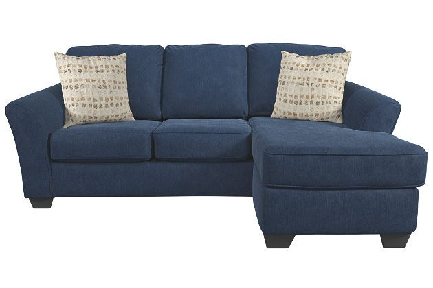 Sofa Chaise and Pillows by Ashley HomeStore, Blue
