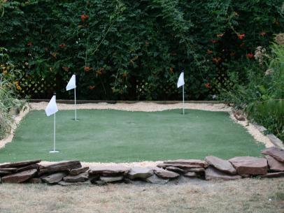 Building a Golf Putting Green | Green backyard, Golf ...