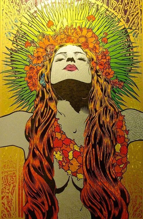 hippie chick colorful girl art cool artistic hippie psychedelic rh pinterest com