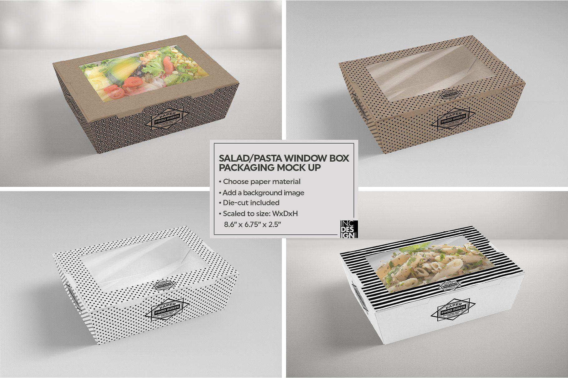 Download Clamshell Window Box Mockup Box Mockup Free Packaging Mockup Food Box Packaging