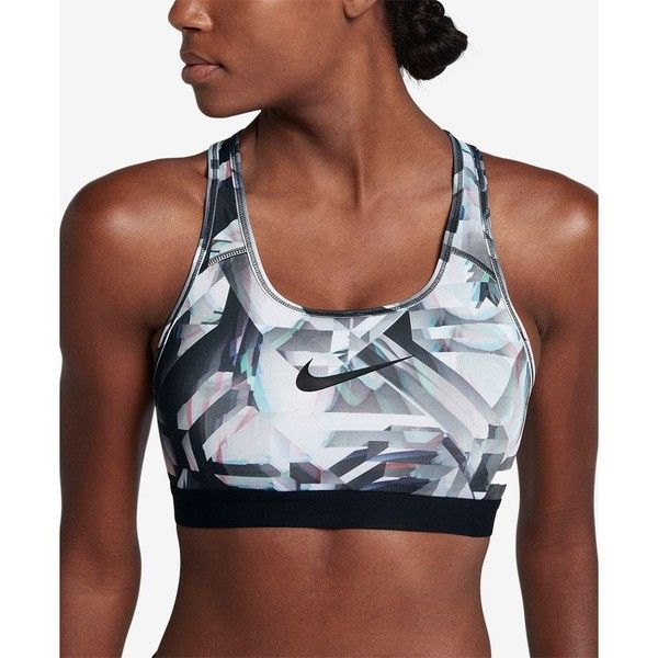 5dd519586 Nike Pro Classic Padded Compression Medium-Support Sports Bra ( 40) ❤ liked  on Polyvore featuring activewear