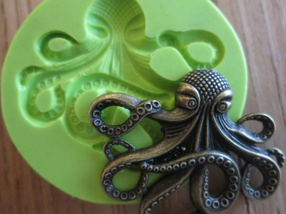Items Similar To Sale Steampunk Octopus Silicone Mold Squid Foodsafe Mould On Etsy Steampunk Octopus Sugar Candy Octopus
