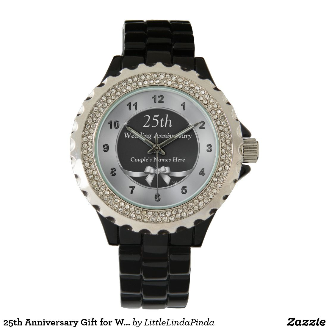 25th anniversary gift for wife anniversary watch zazzle