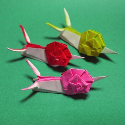 ハート 折り紙 折り紙 かたつむり 立体 折り方 : jp.pinterest.com