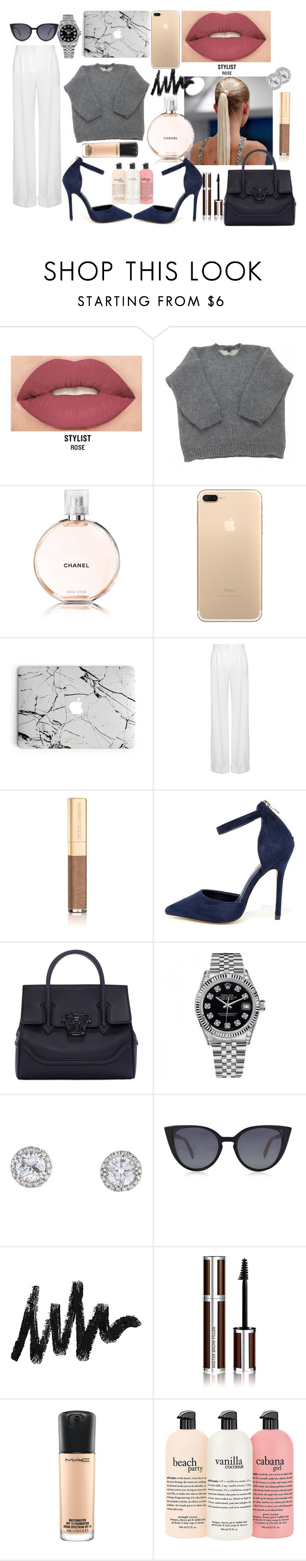 """The Posh & Powerful."" by enu-india on Polyvore featuring Smashbox, Louis Vuitton, Chanel, Dolce&Gabbana, Betani, Versace, Rolex, Fendi, Givenchy and MAC Cosmetics"