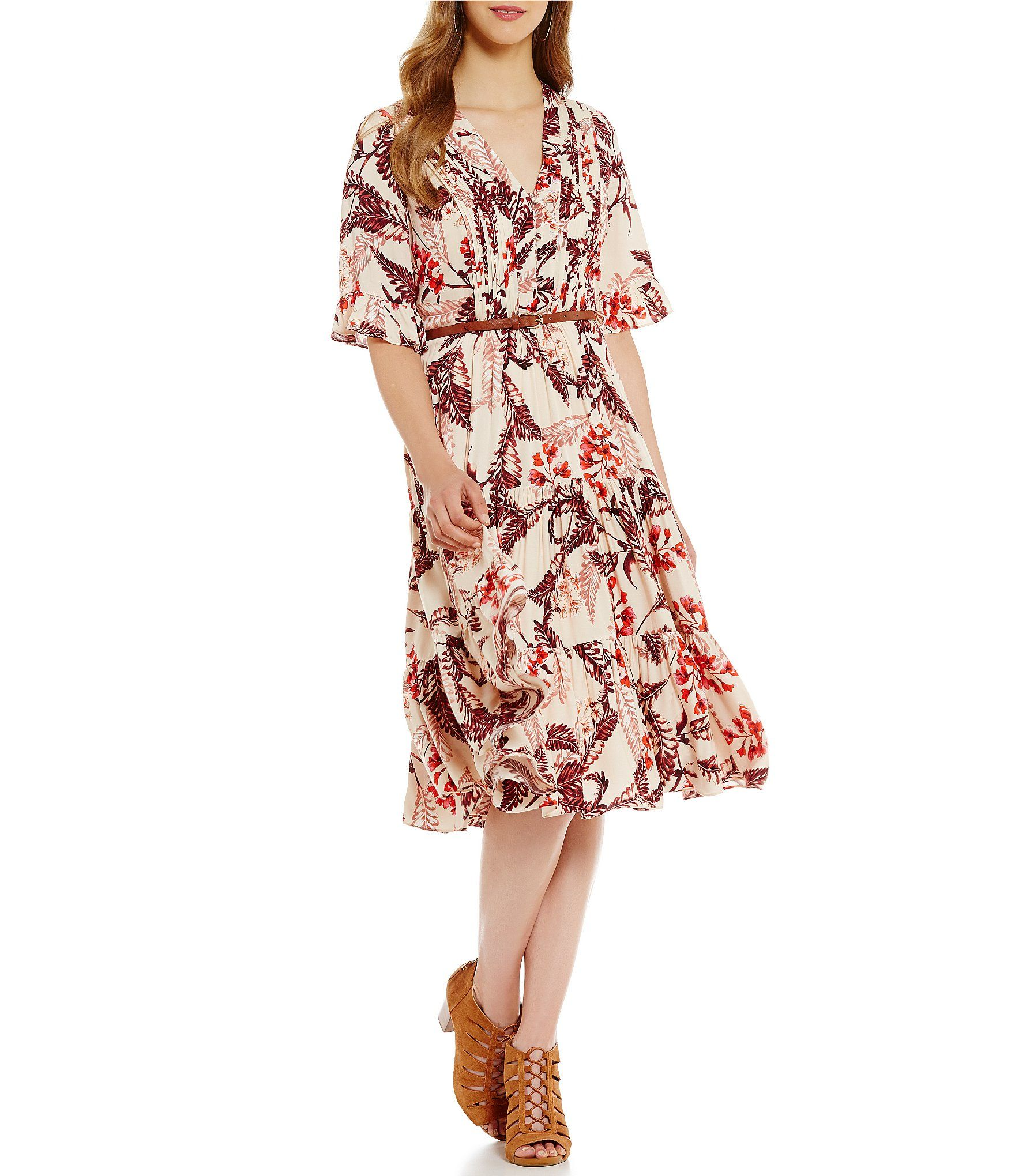 3e5eda3f017 Cremieux Amber Peasant Dress  Dillards Dillards