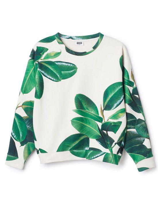 Wir lieben Print-Blätter auf Sweatshirts <3 #pflanzenfreude #fashion
