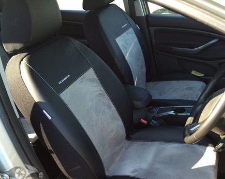 Car seat covers fit Opel Astra H black//red  leatherette full set
