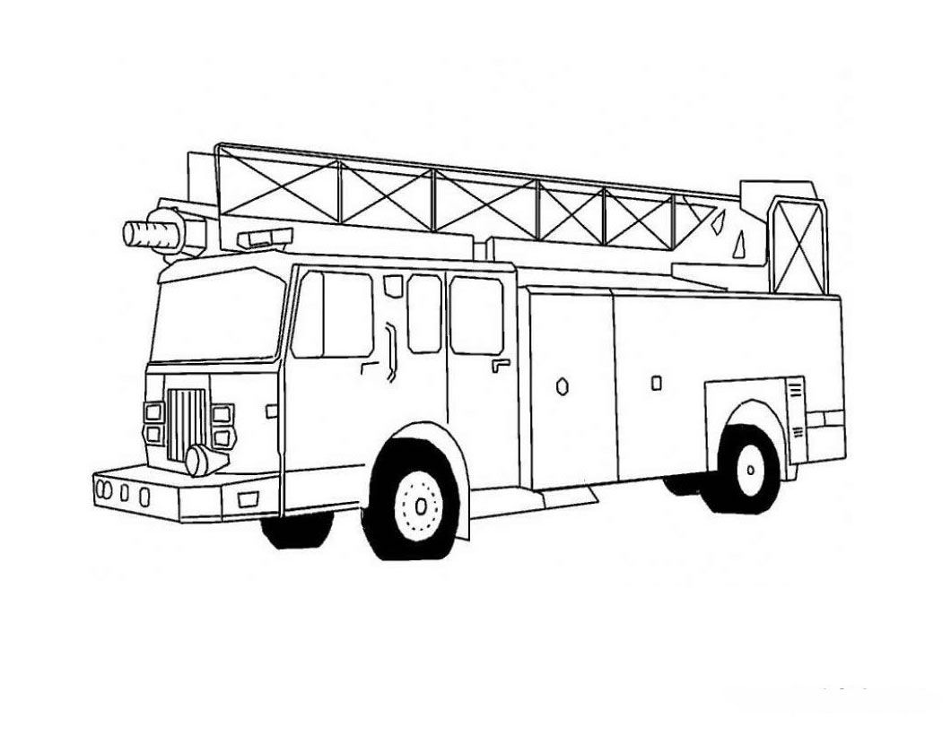 Fire Truck Coloring Pages Classroom Helpers Pinterest Fire