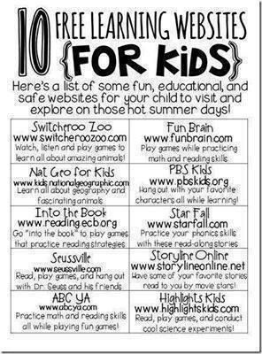 10 Free Learning Websites For Kids Things To Do With The Kids