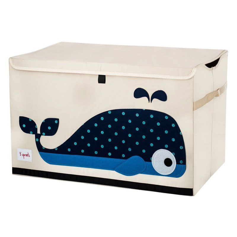 3 Sprouts Whale Toy Chest - UTCWHL