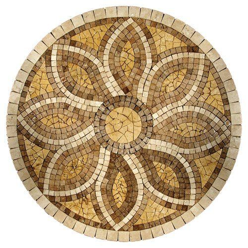 natural rug floor onyx granite marble stone pin medallion tile medallions
