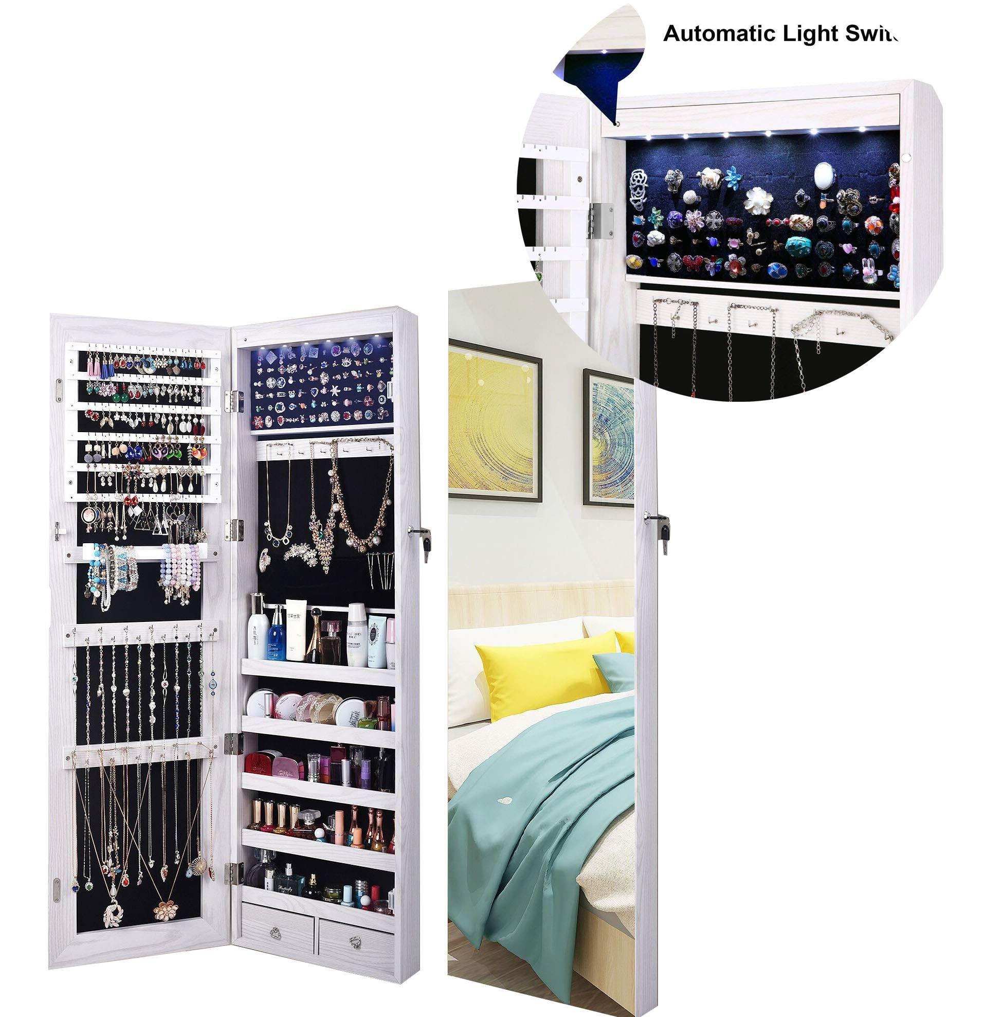 AOOU Jewelry Organizer Jewelry Cabinet, Full Screen ...
